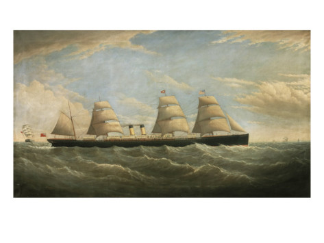 The White Star Steamship 'Germanic' by Isaac Joseph Witham, 1876